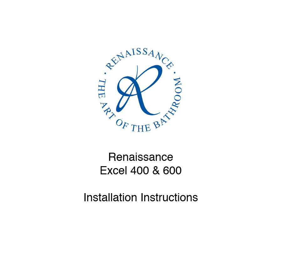 Excel 400 & 600 Installation Instructions